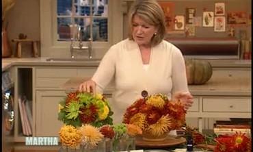 Colorful Chrysanthemum Thanksgiving Centerpiece