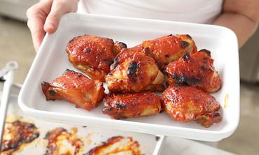 Crispy, Sticky, Glazed, and Braised Chicken Thighs