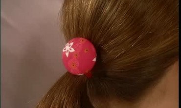 Fabric Covered Button Hair Ties for Girls Party
