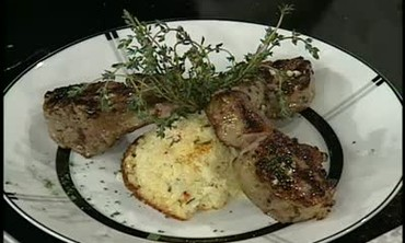 How To Make a Mint Rice Custard With Lamb Chops