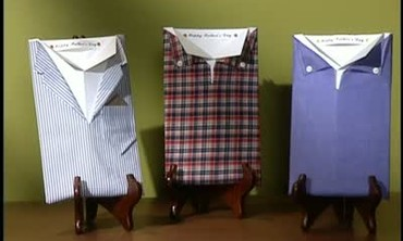 How to Make Button Down Shirt Father's Day Cards