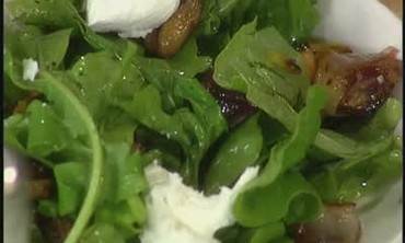 Roasted Vegetable, Arugula, and Goat Cheese Salad
