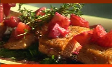Seared Salmon with Pink Grapefruit Sauce, Part 1