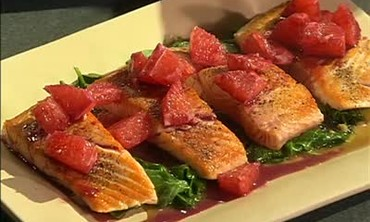 Seared Salmon with Pink Grapefruit Sauce, Part 2
