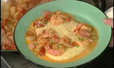 Shrimp and Sausage Over Charleston Grits Part 2