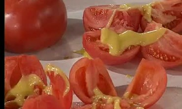 Tomatoes Stuffed with Spicy Shrimp Salad Part 1