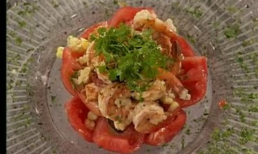 Tomatoes Stuffed with Spicy Shrimp Salad Part 2