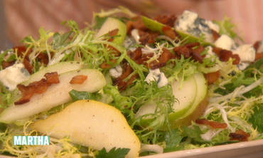 Watercress, Frisee & Pear Salad -- Just Add Bacon!