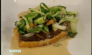 Asian Snapper with Baby Bok Choy and Curry Sauce