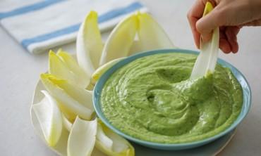 Avocado-Buttermilk Green Goddess Dip with Endive