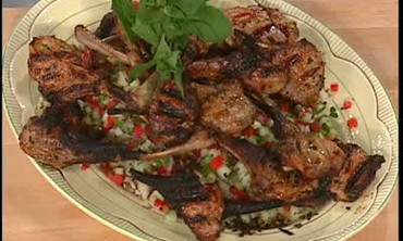 Baby Lamb Chops with Cucumber Mint Relish, Part 2