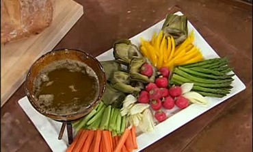 Bagna Cauda, or Anchovy Garlic Dip for Vegetables