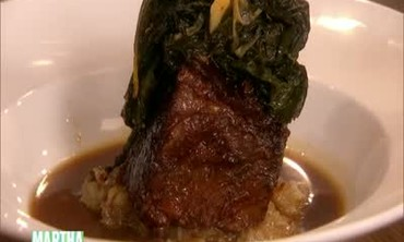 Braised Pork Ribs with Mashed Sunchokes and Kale