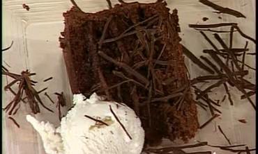 Chocolate Moose Cake with Vanilla Bean Ice Cream.