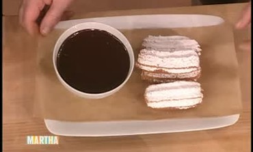Churros with Chocolate Sauce by Chef Ken Oringer