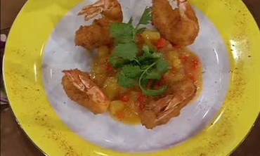 Coconut Shrimp with Pineapple Habanero Chutney