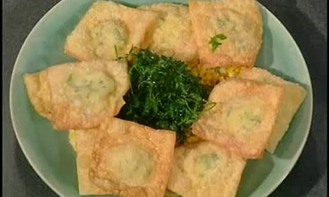 Crispy Crab Meat Ravioli with Maque Choux Part 4
