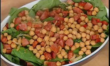 Garbanzo Bean and Spinach Casserole with Sausage