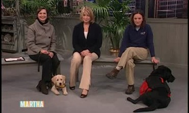 Isabella Rossellini and the Guide Dog Foundation