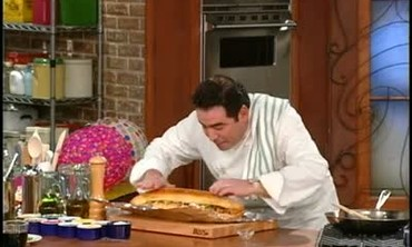 Emeril's Italian Sausage And Garlic Bread Sandwich Recipe