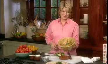 Martha Stewart Makes Salsa From One Of Her Books