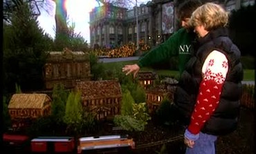 Martha Stewart Visits the Holiday Garden Railway