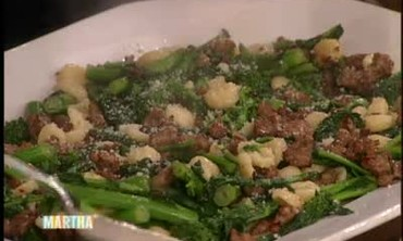 Orecchiette with Broccoli Rabe and Sweet Sausage