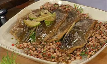 Pan Fried Trout with Black Eyed Pea Salad Recipe