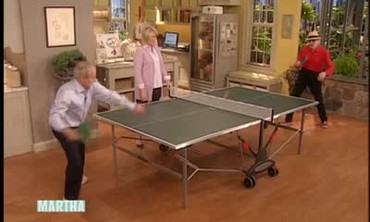 Table Tennis with Harold Evans and Marty Reisman