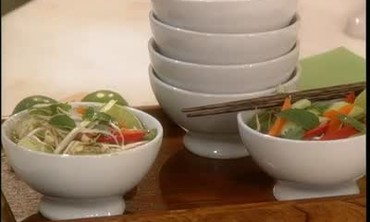Tasty Thai Soup Made from Homemade Chicken Broth