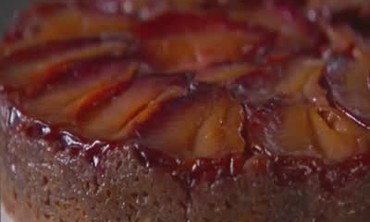 Upside Down Cake with a Brown Sugar Butter Glaze