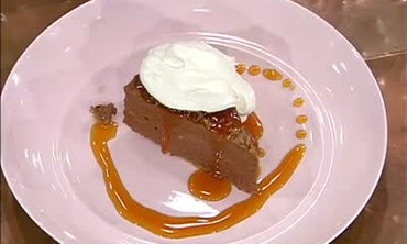 Velvet Chocolate Torte with Orange Caramel Sauce