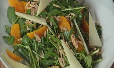 Watercress and Almond Salad with Orange Dressing