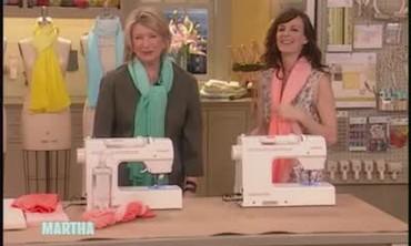 Baby Hems on Spring Scarves with Rosemarie DeWitt