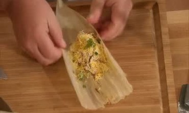 Chicken and Green Chile Tamales with Tomato Salsa