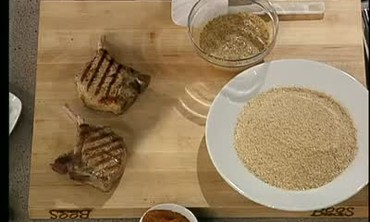 Creole Crusted Pork Chops with Dirty Beans Part 1