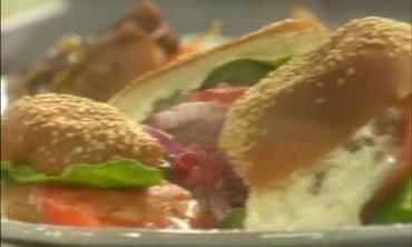 Emeril's Lamb Burger Special with Feta Mayo Spread