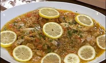 Frog's Legs with Lemon Slices and Turkey Jumbalaya