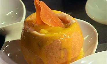 Grapefruit Basil Sorbet and Mango Habanero Sorbet