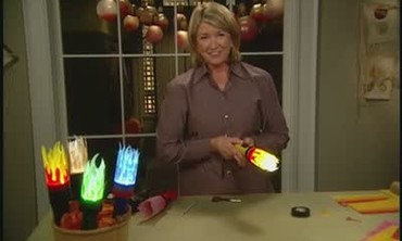 How to Make Flaming Torches for Trick or Treating