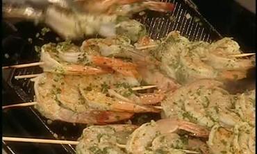 Ina Garten's Grilled Herbed Shrimp and Mango Salsa