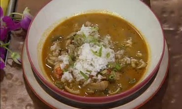 Island Inspired Seafood Gumbo with Coconut Milk