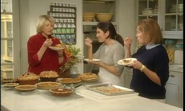 Martha Stewart and Guests Enjoy Freshly Made Pies