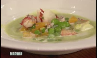 Minted Pea Soup and Lobster with Patrick O'Connell