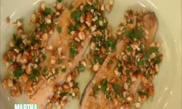 Pan-Fried Trout with Almonds and Grapefruit Salad