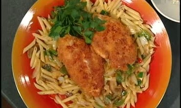Panko Crusted Chicken with Mushroom Ragout, Part 2