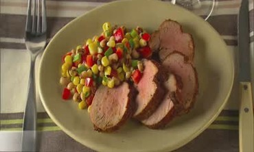 Roasted Pork Tenderloin with Black Eyed Pea Salad