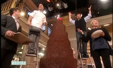 Topping a Six Foot Chocolate Cake with Alain Roby