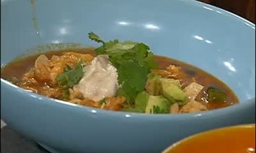 Tortilla Soup with Spicy Cream and Avocado Part 4