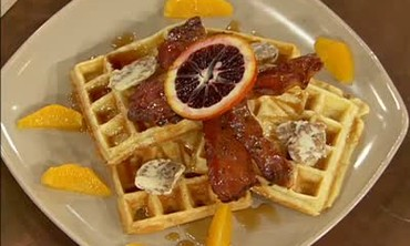 Breakfast for Dinner - Belgian Waffles and Bacon